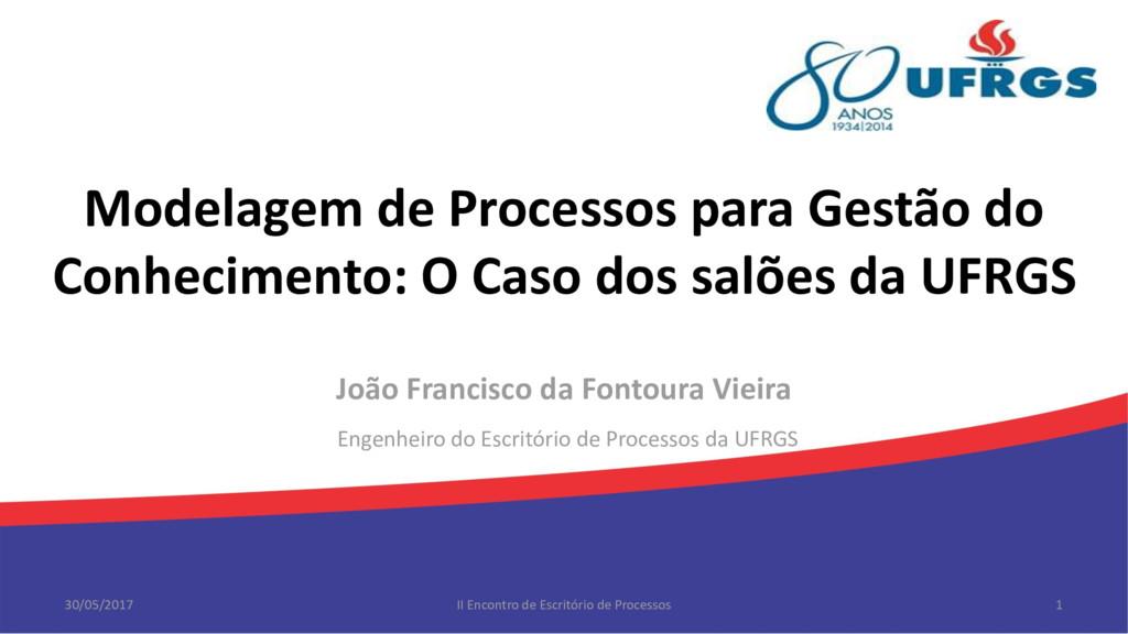 Modelagem de Processos para Gestão do Conhecime...