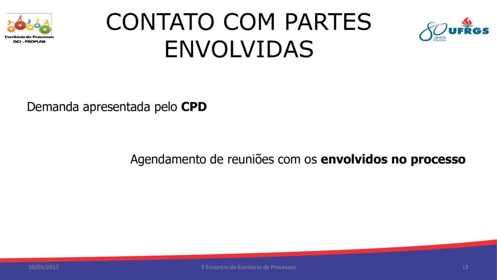 CONTATO COM PARTES ENVOLVIDAS 30/05/2017 II Enc...