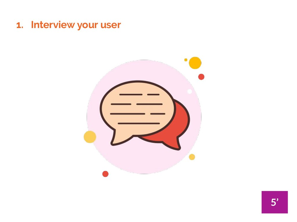 1. Interview your user 5'
