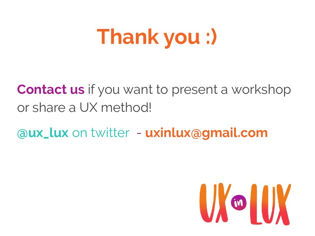 Thank you :) Contact us if you want to present ...