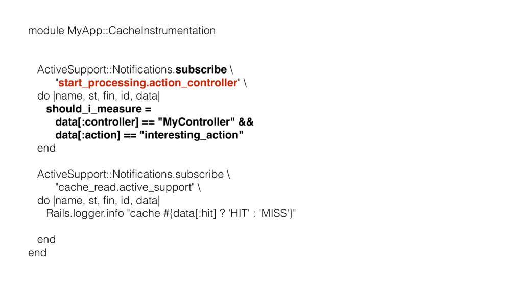 module MyApp::CacheInstrumentation ActiveSuppor...