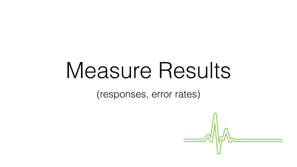 Measure Results (responses, error rates)