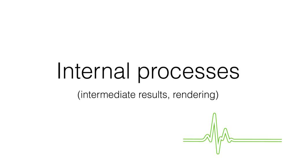 Internal processes (intermediate results, rende...