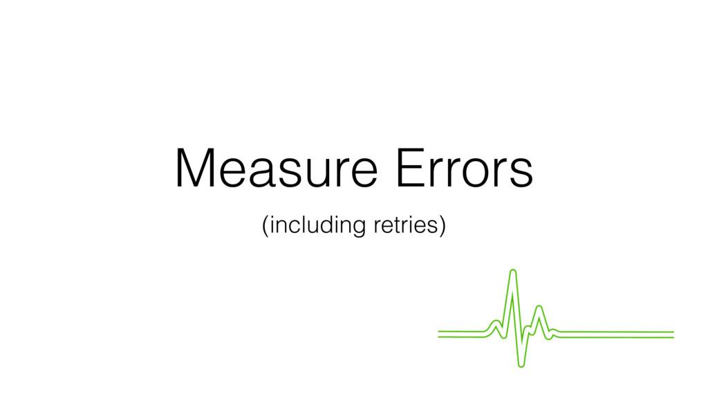 Measure Errors (including retries)
