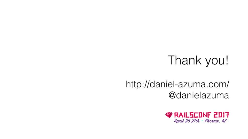 Thank you! http://daniel-azuma.com/ @danielazuma
