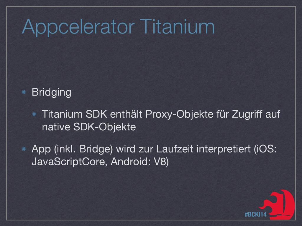 Appcelerator Titanium Bridging  Titanium SDK en...