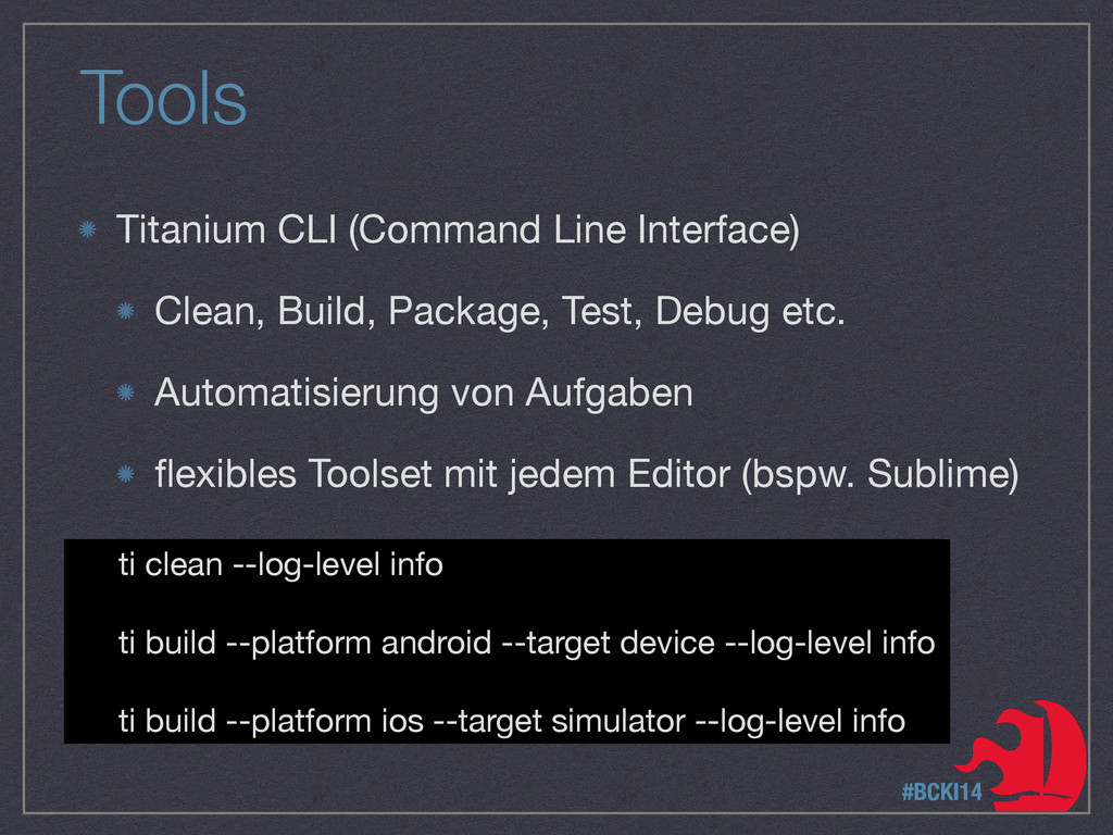 Tools Titanium CLI (Command Line Interface)  Cl...