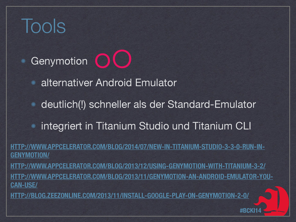 Tools Genymotion  alternativer Android Emulator...