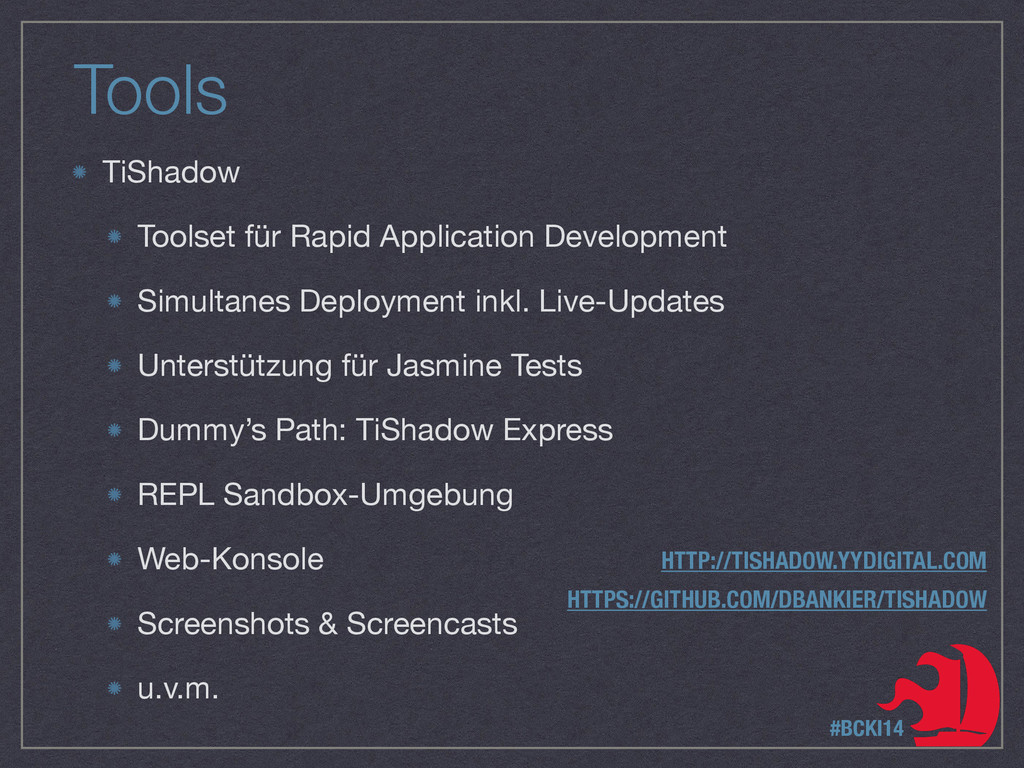 Tools TiShadow  Toolset für Rapid Application D...