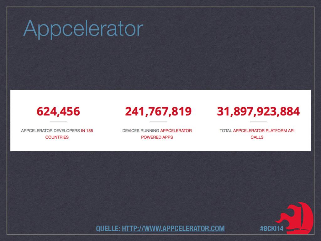 Appcelerator #BCKI14 QUELLE: HTTP://WWW.APPCELE...