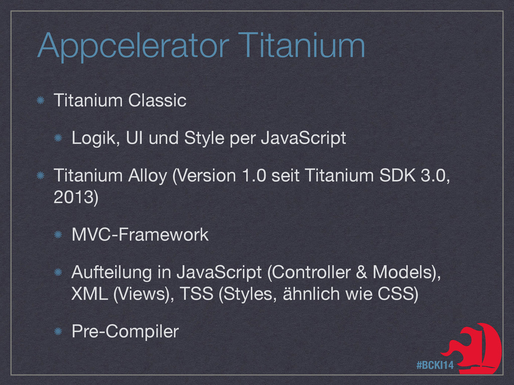 Appcelerator Titanium Titanium Classic  Logik, ...