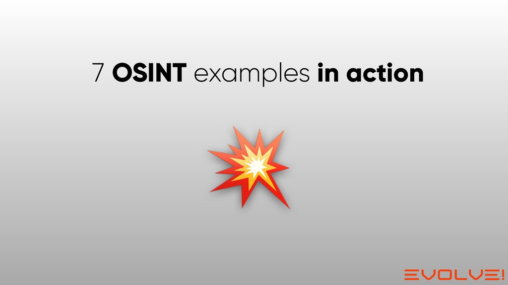 7 OSINT examples in action
