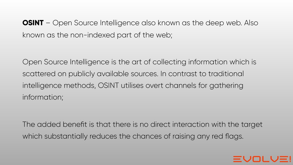 OSINT – Open Source Intelligence also known as ...