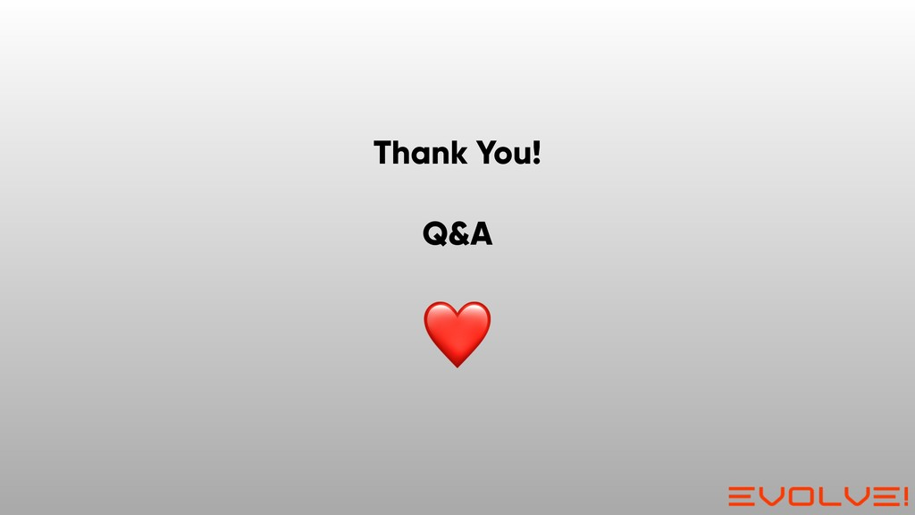Thank You! Q&A ❤