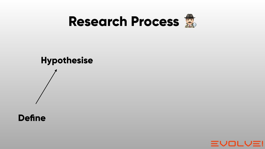 Hypothesise Define Research Process