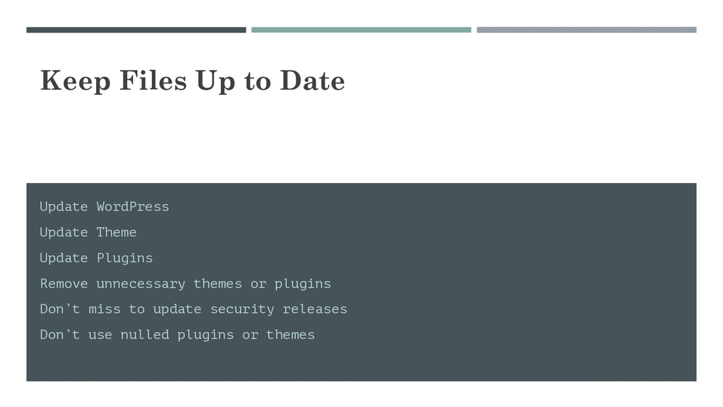 Keep Files Up to Date Update WordPress Update T...