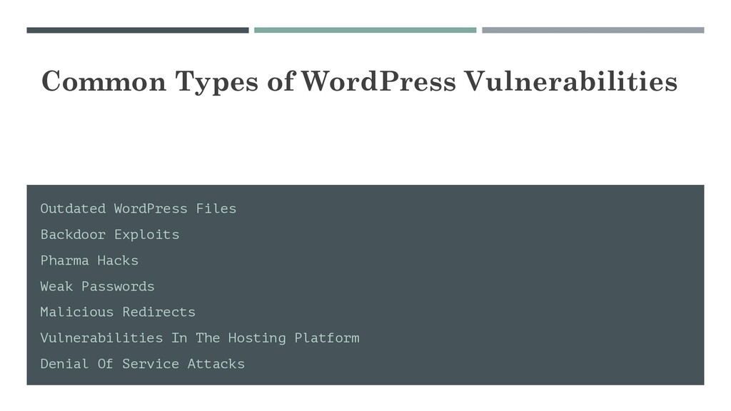 Common Types of WordPress Vulnerabilities Outda...