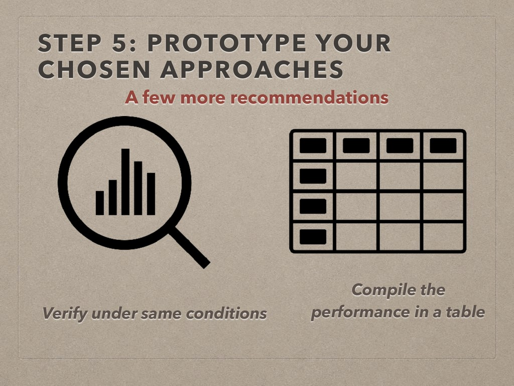 STEP 5: PROTOTYPE YOUR CHOSEN APPROACHES A few ...