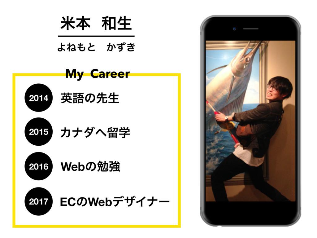 ถຊੜ ΑͶͱɹ͔͖ͣ My Career ӳޠͷઌੜ 2014 Χφμཹֶ Web...