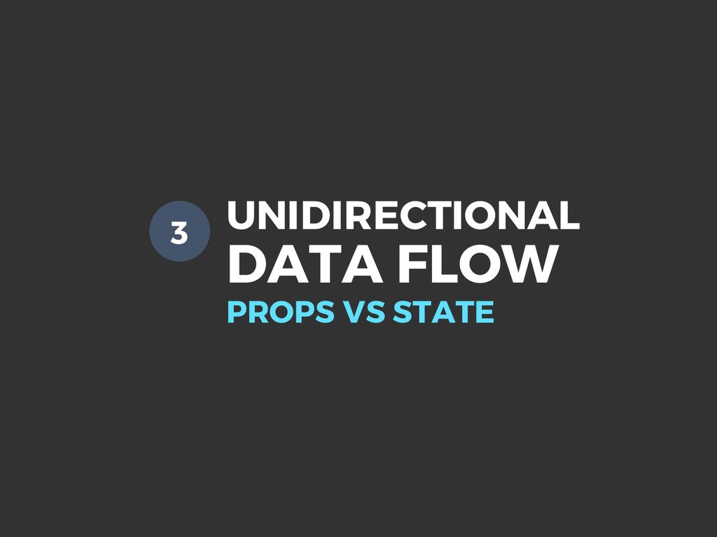 UNIDIRECTIONAL DATA FLOW PROPS VS STATE 3