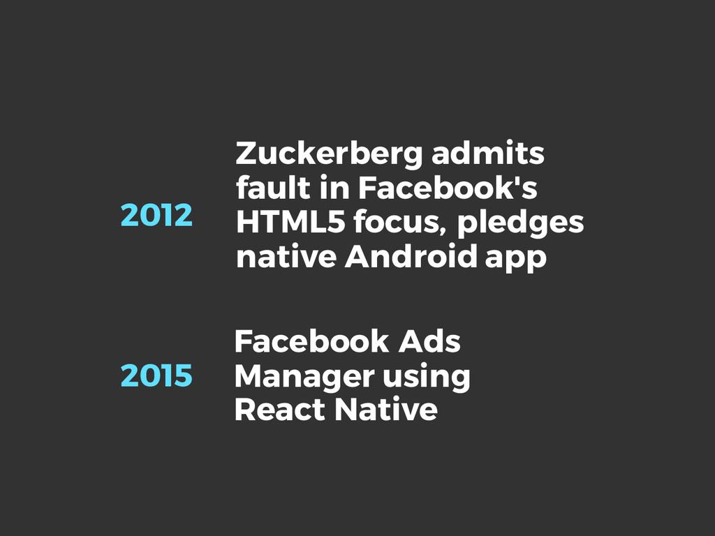 Zuckerberg admits fault in Facebook's HTML5 foc...