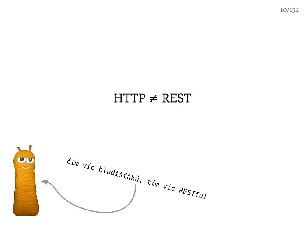 HTTP REST ≠ čím víc bludišťáků, tím víc RESTful...