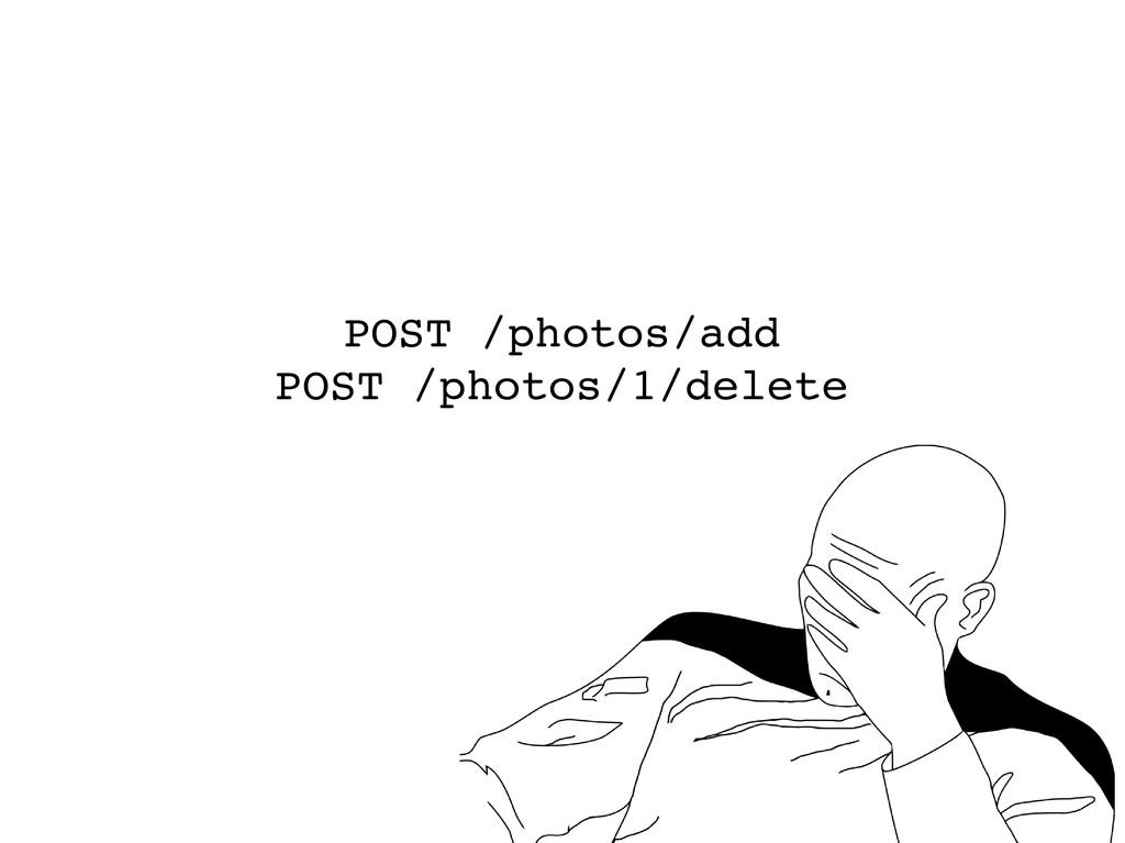 POST /photos/add POST /photos/1/delete