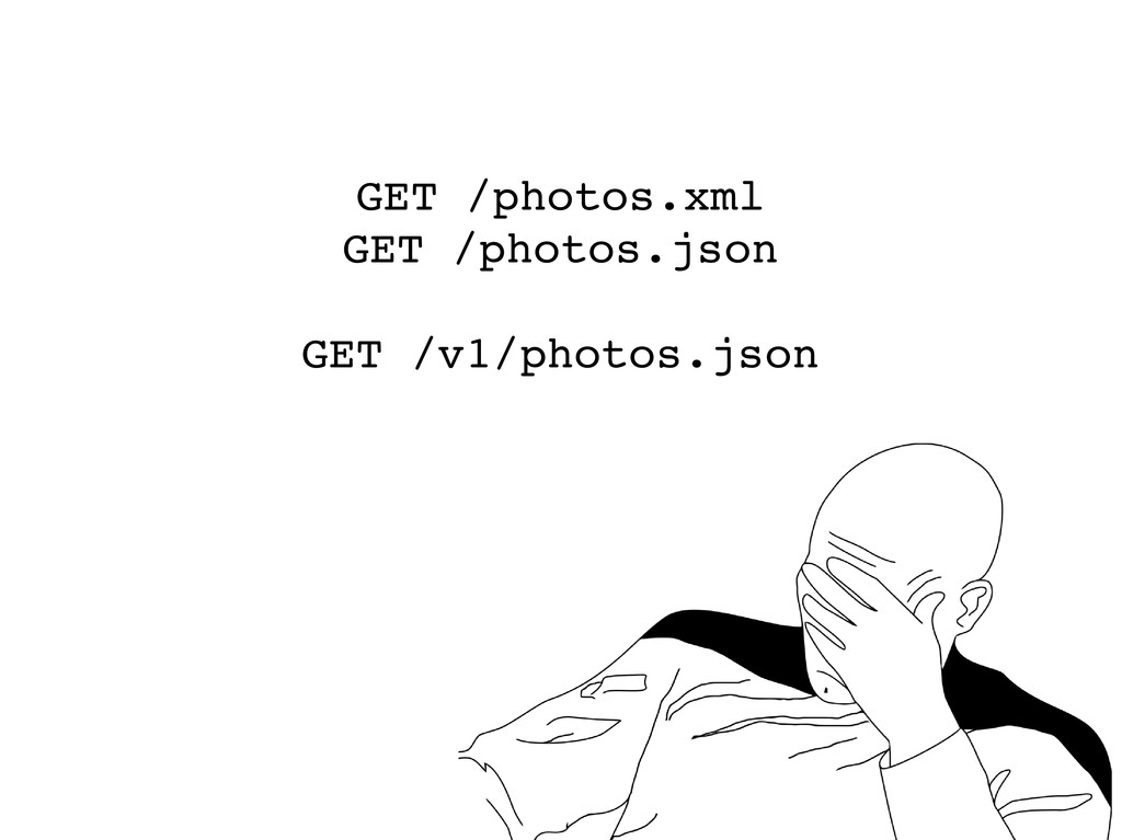 GET /photos.xml GET /photos.json GET /v1/photos...