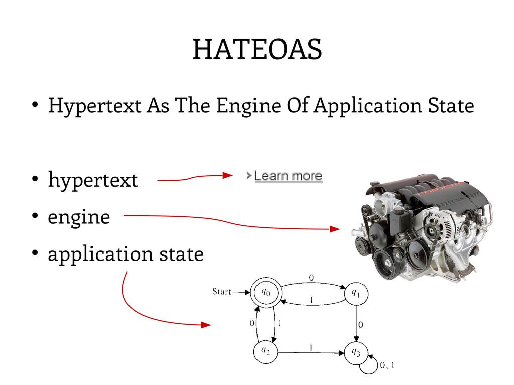 HATEOAS ● Hypertext As The Engine Of Applicatio...