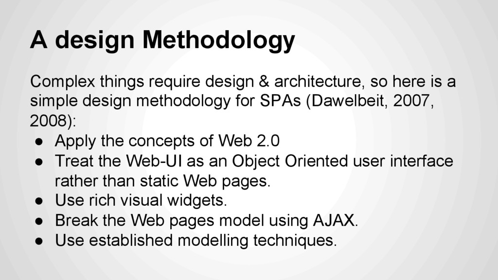 A design Methodology Complex things require des...