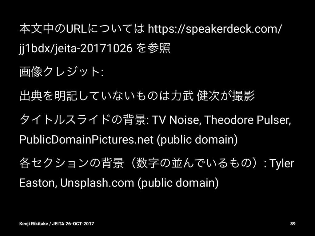 ຊจதͷURLʹ͍ͭͯ https://speakerdeck.com/ jj1bdx/je...