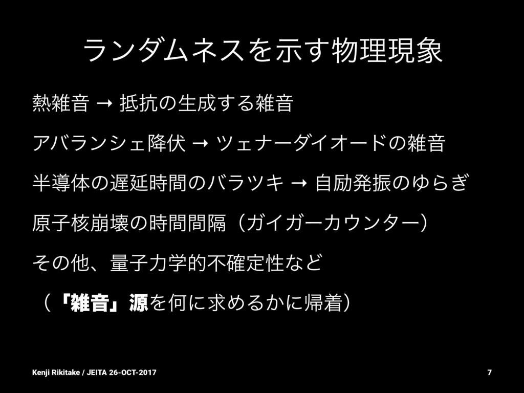ϥϯμϜωεΛࣔ͢ཧݱ Ի → ߅ͷੜ͢ΔԻ ΞόϥϯγΣ߱෬ → πΣφʔμΠ...