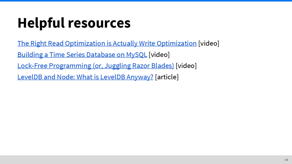 Helpful resources The Right Read Optimization i...