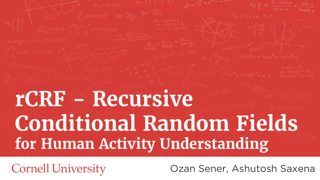 rCRF - Recursive Conditional Random Fields for ...