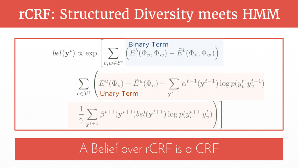 rCRF: Structured Diversity meets HMM A Belief o...