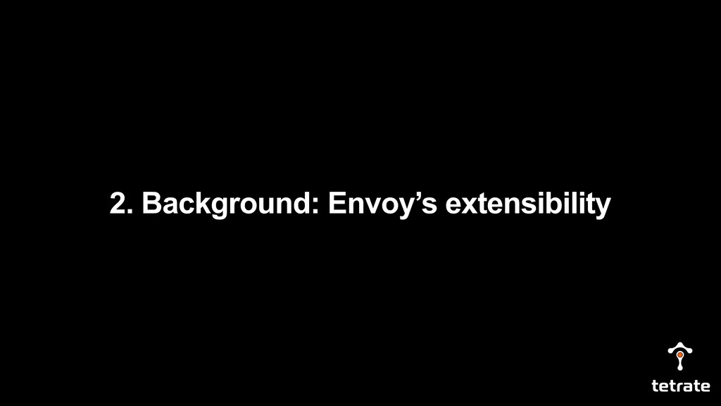 2. Background: Envoy's extensibility