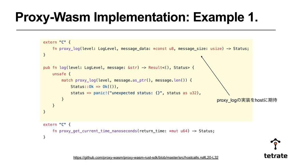Proxy-Wasm Implementation: Example 1. proxy_log...