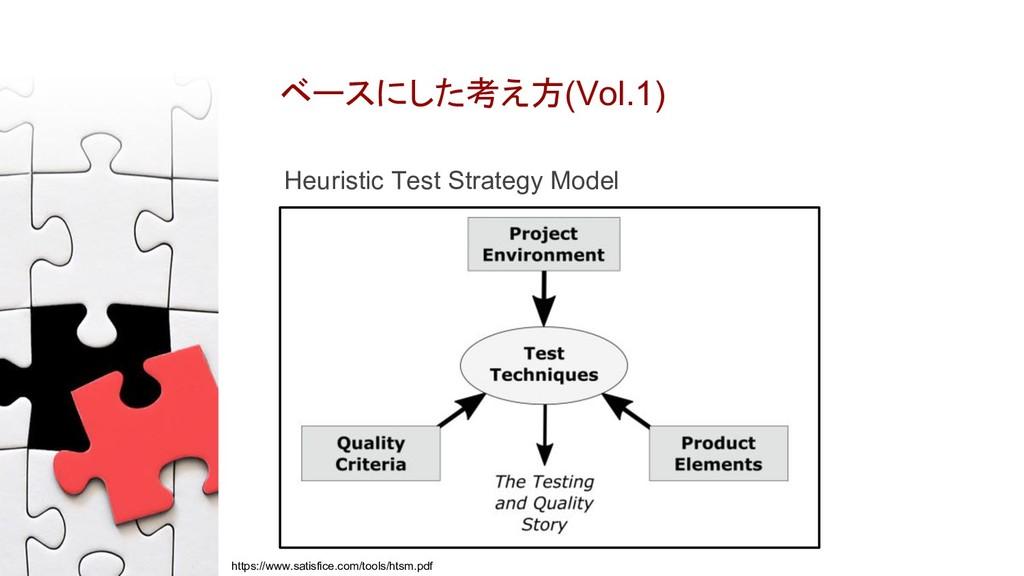 ベースにした考え方(Vol.1) Heuristic Test Strategy Model ...
