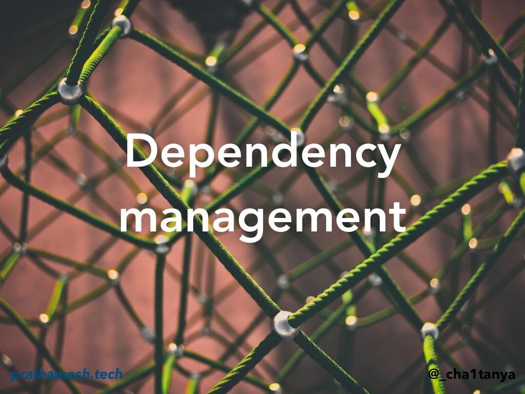 Dependency management @_cha1tanya prathamesh.te...
