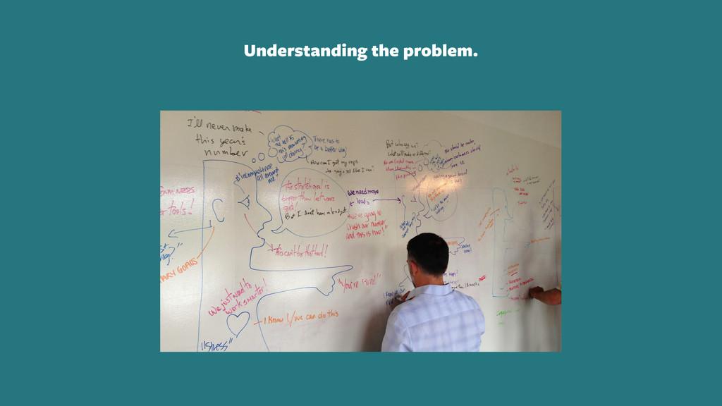 Understanding the problem.