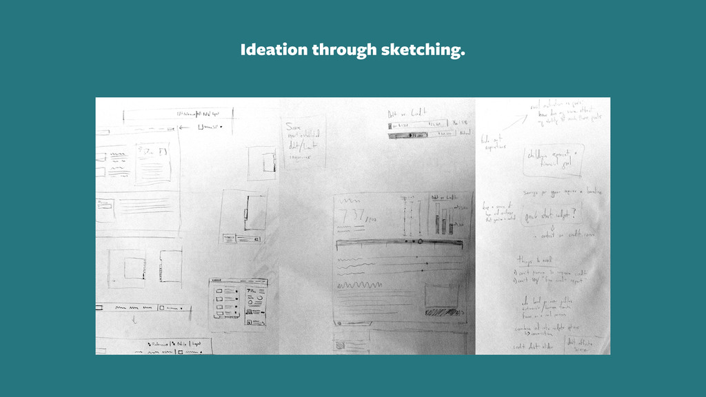 Ideation through sketching.