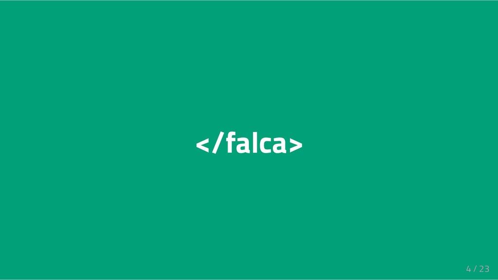 </falca> 4 / 23