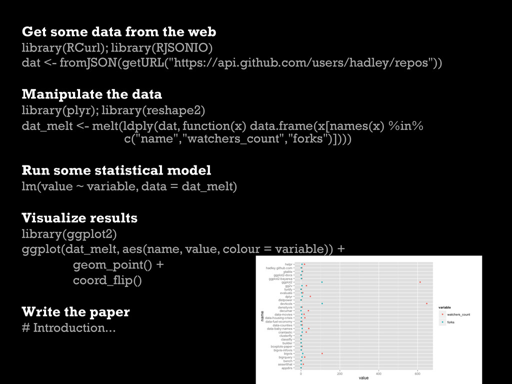 Get some data from the web library(RCurl); libr...
