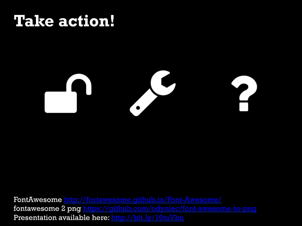 Take action! FontAwesome http://fortawesome.git...