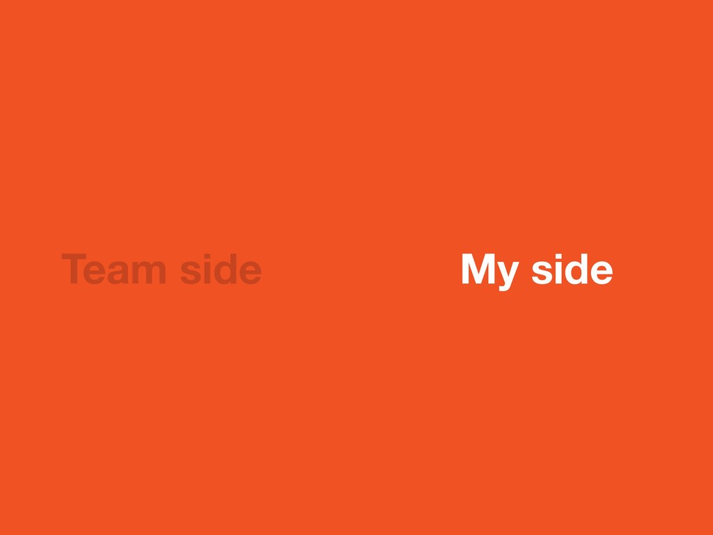 Team side My side