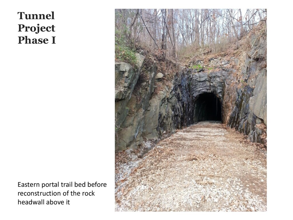 Tunnel Project Phase I Eastern portal trail bed...