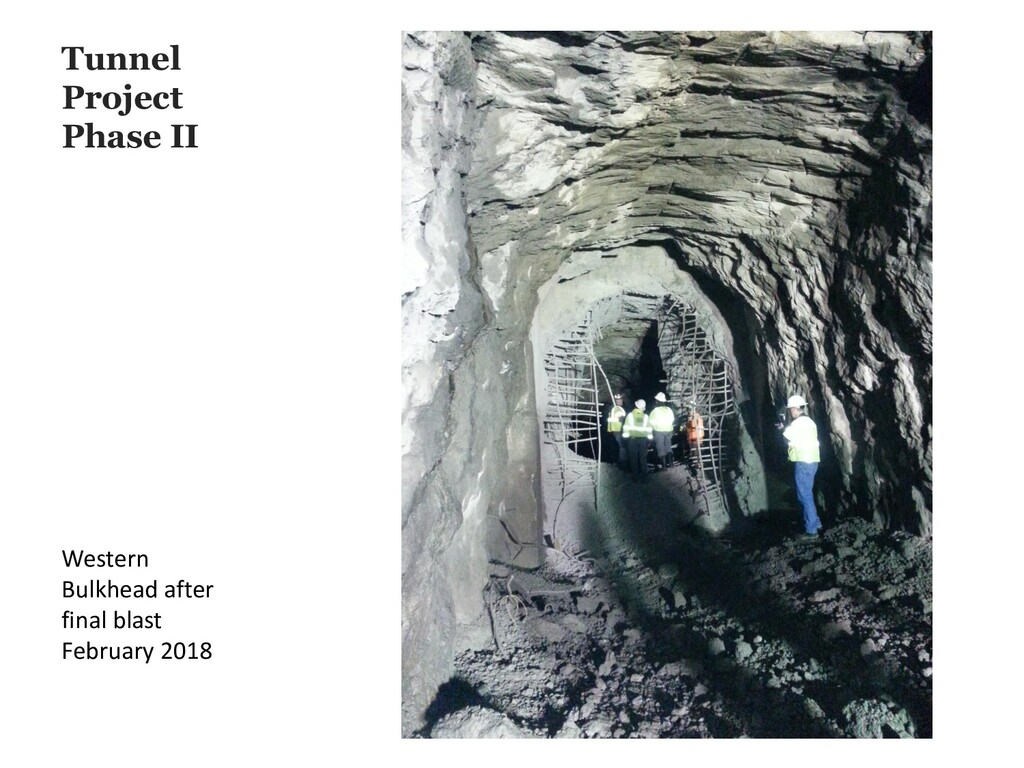 Tunnel Project Phase II Western Bulkhead after ...
