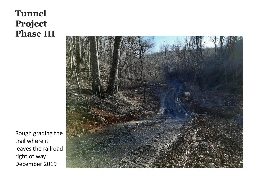 Tunnel Project Phase III Rough grading the trai...