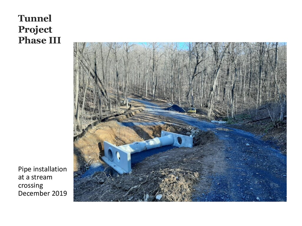 Tunnel Project Phase III Pipe installation at a...