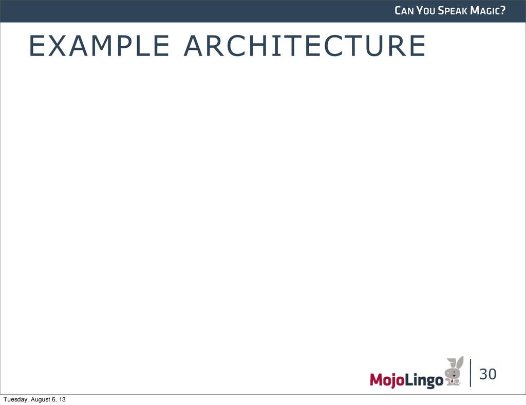 CAN YOU SPEAK MAGIC? EXAMPLE ARCHITECTURE 30 Tu...